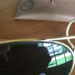 Ray-Ban Accessories - Vintage ray band aviators large green glass